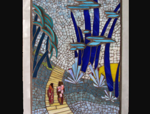 BLUE FOREST WALK – 24in x 14in (SOLD)